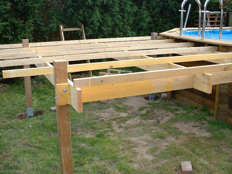 Quelle Structure Support Pour Terrasse En Bois Sureleve  Piscines
